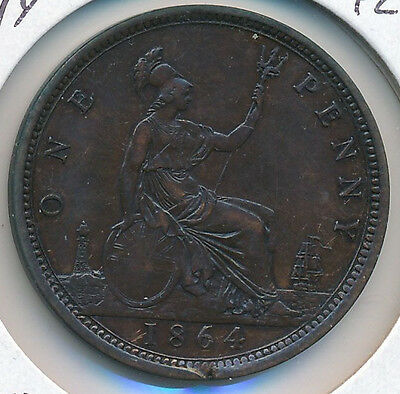 Great Britain Penny 1864 PL4 - XF Details