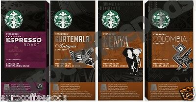 Starbucks Nespresso Espresso Coffee Compatible 10 Pods Four Blend To Choose From