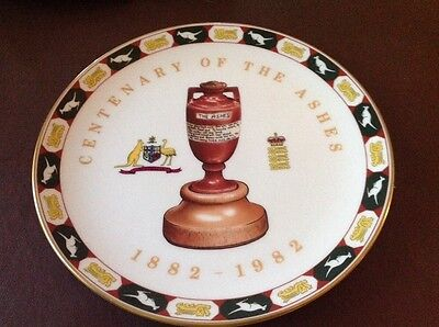Vintage Coalport Collectors Plate  Centenary Of The Ashes 1882-1982