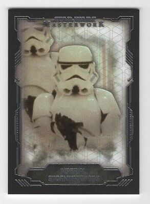 2016 Topps Star Wars Masterwork Base Card #14 Imperial Stormtroopers