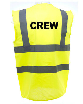 Crew Hi-Vis Safety Vest Equestrian. High Viz Waistcoat Cycling Road