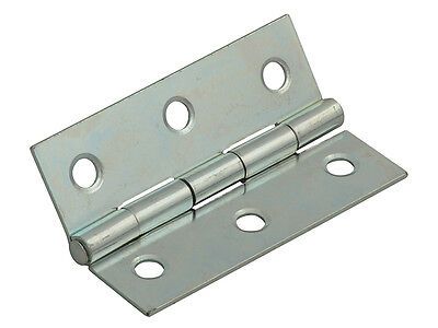 Forge FGEHNGBTZP75 Butt Hinge Steel Zinc Plated 75mm (3in) Pack of 2