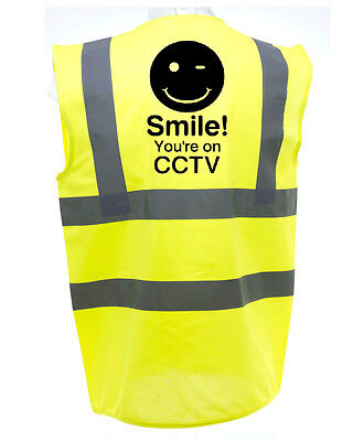 Smile Cctv Hi-Vis Safety Vest Equestrian. High Viz Waistcoat Cycling Road