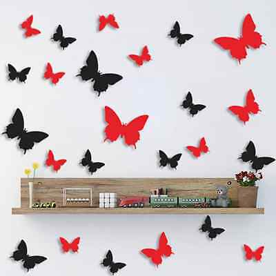 12PCS 3D Butterfly Wall Decor Sticker Home Decorations Removable Art Home Decor