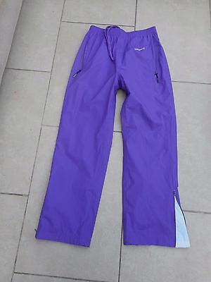 New*backswing  Golf Storm Fit Water/wind Proof Over Trousers Purple Uk 10/12