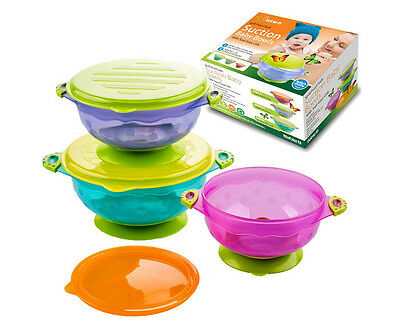Baby Feeding Bowls With Lid Spill Proof Suction Toddler Tableware BPA BPS Free