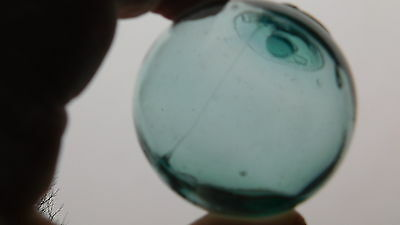 Rare Japanese Glass Float W/ Spindle Marked   WP #10