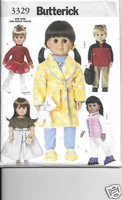 3329 18 Inch Doll Clothes New  Sewing Pattern Butterick 3329