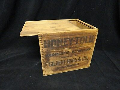Honey-Tulo * People's Remedy * Medicine Shipping Box * Gilbert Bros & Co
