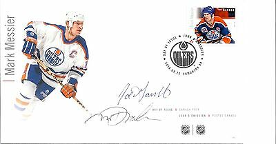 FDC NHL Hockey Forwards, Mark Messier, Signed / Autographed By Designers