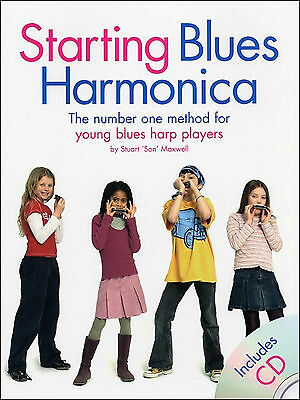 Starting Blues Harmonica Learn How To Play Mouth Organ Sheet Music Book & CD