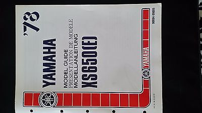 yamaha XS650E model guide in english / french / german 1978