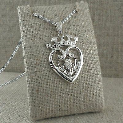 Sterling Silver Luckenbooth & Scottish Thistle Pendant Keith Jack Crown