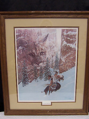 "Limited Edition Print 200/950 Signed ""canyon Of The Cat"" L. Kramer Cole 1988"