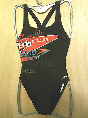 """NEW WITH TAGS SPEEDO FEMALE ENDURANCE AUTHENTIC SWIMSUIT UK SIZE 30""""CHEST(76 cm)"""