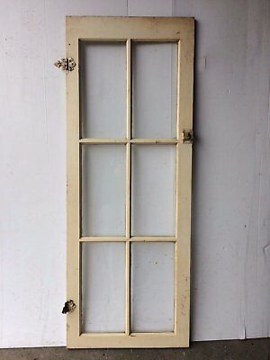 Antique 6 Lite Casement Cabinet Bookcase Sash Pantry Window Vintage 2086-16