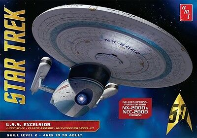 AMT 1:1000 Star Trek USS Excelsior Plastic Model Kit AMT843