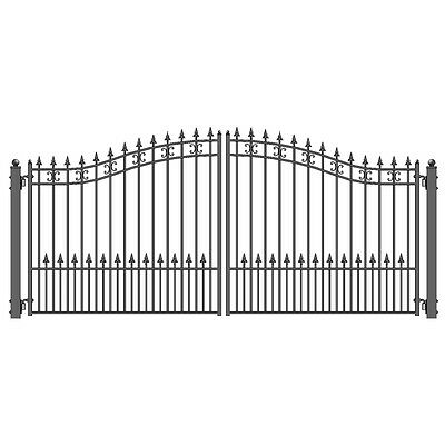 ALEKO St Petersburg Style Iron Wrought Dual Driveway Gate 12' High Quality