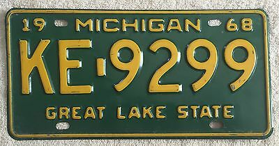 Vintage 1968 Michigan License Plate FREE SHIPPING Visit My eBay Store