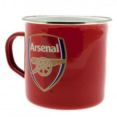 Official Licensed Football Product Arsenal Tin Mug Cup Camping Tea Coffee Gift