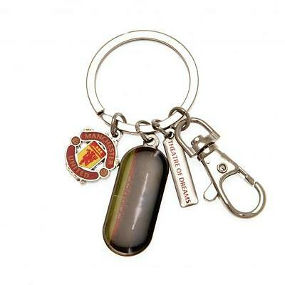 Official Licensed Football Product Manchester United Key Ring 3 Charm Key Chain