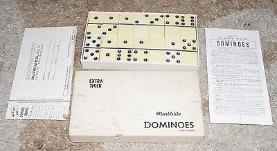 Vintage Extra Thick Marblelike Dominoes No. 716