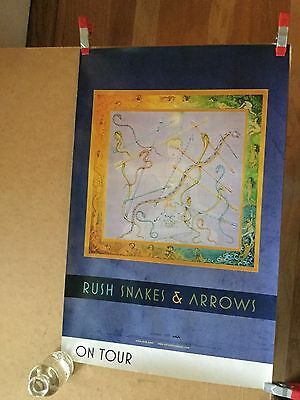"Rush ""snakes & arrows"".  2-sided 2007 original promo poster"