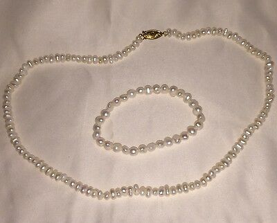 REAL seed Pearl NECKLACE AND BRACELET SET