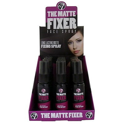 W7 The Fixer MATTE Long Lasting MakeUp Setting Fixing Face Spray Freshen Hydrate