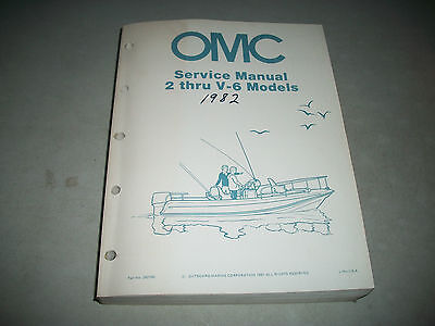 Oem 1982 Evinrude/johnson Outboard Shop Service Repair Manual Models 2 Thru V-6