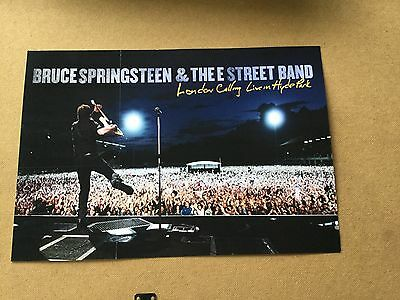 "Bruce Springsteen ""London calling"". 2-sided  promo poster."