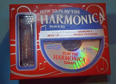 How To Play The Harmonica  10 Hole C Cd Book New Boxed Book And Kit