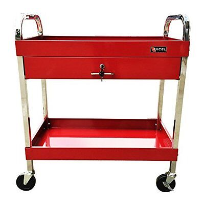Excel TC303D-Red 30in Steel Tool Cart Red Utility Cart, New