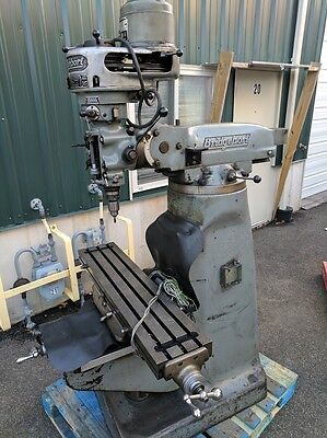 "Bridgeport Vertical Milling Machine  1 HP 9"" x 42""  Mitutoyo DRO"