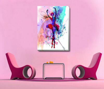 Ballerina Dance Stretched Canvas Print Framed Wall Art Home Decor Painting Gift