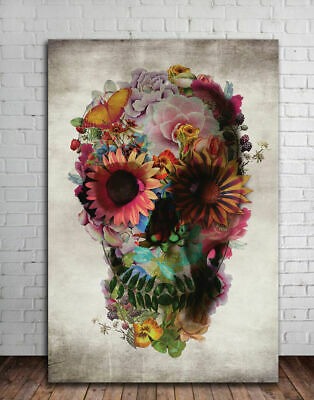Sugar Skull Abstract Canvas Prints Framed Wall Art Home Shop Decor Painting Gift