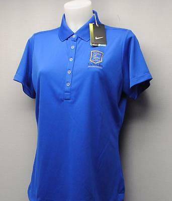 New Ladies Nike Golf Dri Fit Blue golf polo shirt Large Polyester Wildfire