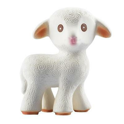 Mia the Lamb Natural Rubber Baby Teething Toy Caaocho New Infant Teether Gift