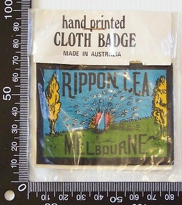 Vintage Rippon Lea Melbourne Embroidered Souvenir Patch Woven Cloth Sew-On Badge