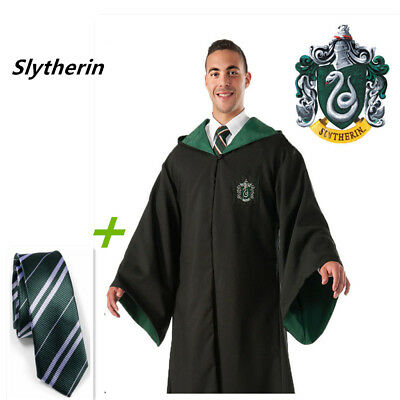 Harry Potter Cape Costume Adult Youth Slytherin Robe Cloak Kids Party Cosplay