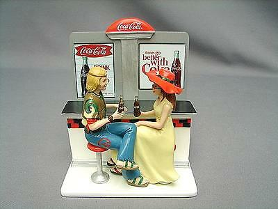 """Coca-Cola Figurine Diner Collection """"there's Nothing Like A Coke"""""""