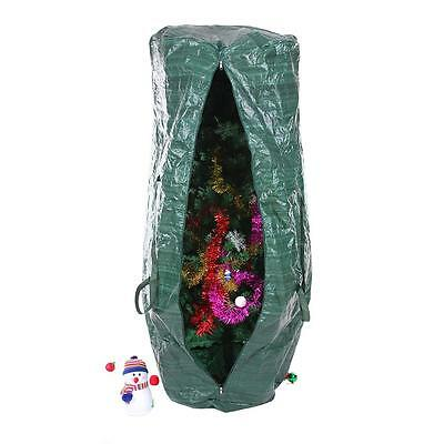 New Christmas Tree Storage Bag Cover Xmas Holiday , Color, Green, Up To 9ft Tree