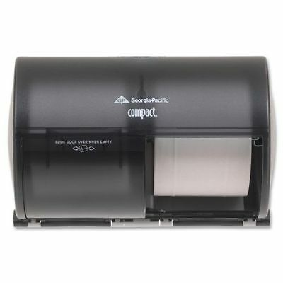Georgia-Pacific Compact 56784 Translucent Smoke Side-By-Side Tissue Dispenser
