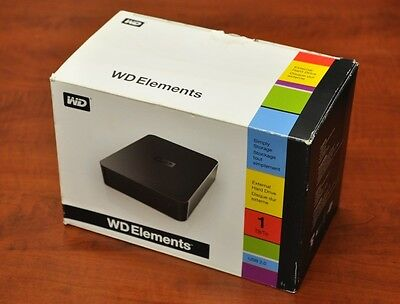 Wd Elements External Hard Drive (Hdd) 1Tb Usb 2.0 In Box
