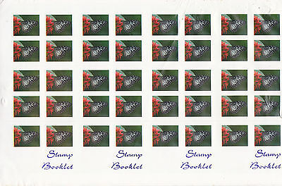 Australia Booklet PRINTER'S SAMPLE uncut block of 4 1990s BUTTERFLY
