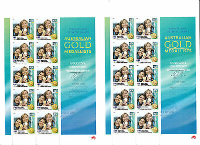 Australia 2000 Olympic BEACH VOLLEYBALL digital double sheet first day cxl