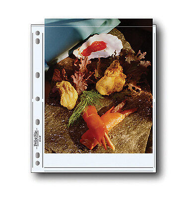 Print File Archival Photo Pages Holds Two 8.5 x 11in. Prints - 100