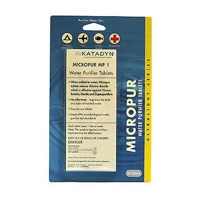 20-PACK Katadyn Micropur Water Purification Tablets (EPA Registered) ~ 8014996