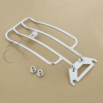 Chrome Solo Seat Luggage Rack For Harley Touring Road King FLHR FLHTC 1997-2005