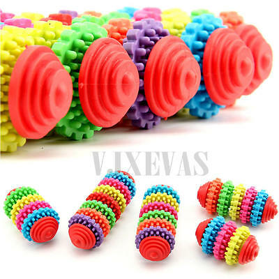 Pet Dog Puppy Colorful Rubber Dental Teething Healthy Teeth Gums Chew Toys Gift